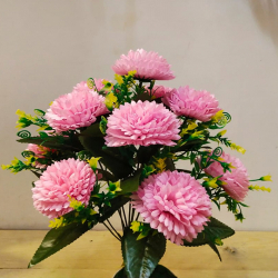 18 Inch - Flower Bunch - Artificial Bunch - Flower Decoration - Pink Color
