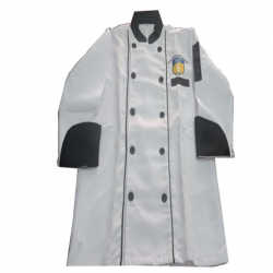 Chef Coat - Full Sleeves - Made Of Premium Quality Cotton - Piping Trim & Buttons.(Available Size 38 , 40 , 42 , 44 , 46 , 48)