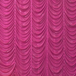 10 Ft X 20 Ft - Designer Curtain - Parda - Stage Parda - Wedding Curtain - Mandap Parda - Background Curtain - Side Curtain - Made Of Bright Lycra - Pink Color