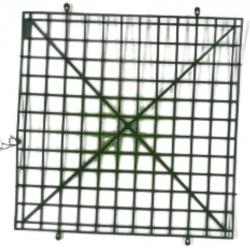 10 Inch X 10 Inch - Flower Frame  -Flower  Roof  Holder Frame - Made Of Plastic Material - Square Shape