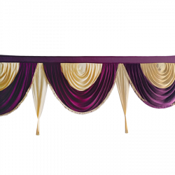 Designer Zalar - Scallop Zalar - Kantha - Jhalar - Made Of Lycra With Tipki - Wine & Chandan Color (Available size in 10 FT,15 FT,18 FT,30 FT )