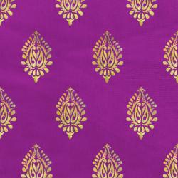 Foil Work Print on Brite Lycra - 54 Inch  Panna - Event Cloth - Magenta & Golden Color