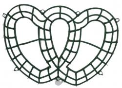 12 Inch X  20 Inch - Flower Frame - Flower Roof  Holder Frame - Made of Plastic Material  - Heart  Shape