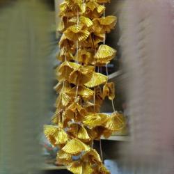 2 FT - Net Lines - Hanging  Loutkon - Door Hanging - Golden Color (One Packet 10 Unit)