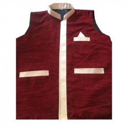 Vest Coat For VIP Waiter - Bearer - Bartender Coat Or Vest - Waiter Uniform - Brown Color (Available Size 38 , 40 , 42 , 44 , 46 , 48)