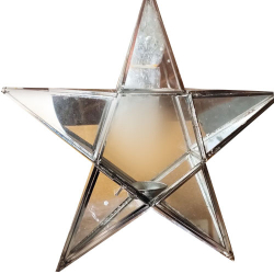 12 Inch Glass Star Hanging - Decorative Hanging - Made ..