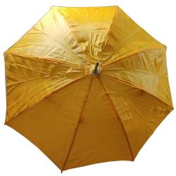 24 Inch Height & 28 Diameter - Umbrella Handicraft Walking Stick Umbrella - Yellow Color