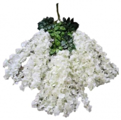 47 Inch X 35 InchFabric Artificial Flower - Latkan - Flower Decoration - White Color