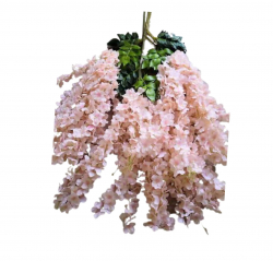 47 Inch X 35 Inch Fabric Artificial Flower - Latkan - Flower Decoration - Peach Color