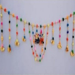 21 Inch x 7 Inch - Golden Toran Puppet's - Rajasthani Puppet's - Multi Color
