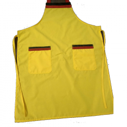 Heavy Fabric Kitchen Apron With Front Pocket Yellow Color