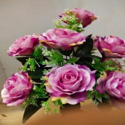 18 Inch - Flower Bunch - Artificial Bunch - Flower Decoration - Light Pink Color