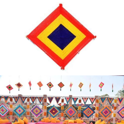 12 Inch - Kite Decoration - Made up of Woolen - Multi C..