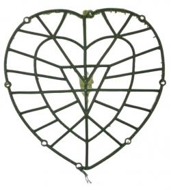 15 Inch - Flower Frame - Flower Roof Holder Frame - Made of Plastic Material - Heart  Shape