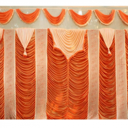 Designer Curtain - Parda - Stage Parda - Wedding Curtain - Mandap Parda - Back Ground Curtain - Side Curtain - Made Of 24 Gauge Brite Lycra - Multi Color (Available Size In 10 FT X 15 FT, 10 FT X 18 FT,10 FT X 20 FT,11 FT X 15 FT,12 FT X 15 FT,12 FT X 18