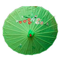 18 Inch - Green  Color - Chinese Umbrella - Fancy Umbrella - Decorative Umbrella - Chatri