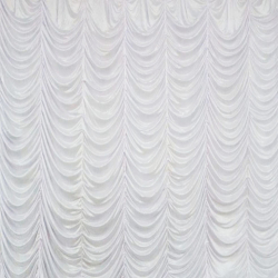 10 Ft X 20 Ft - Designer Curtain - Parda - Stage Parda - Wedding Curtain - Mandap Parda - Background Curtain - Side Curtain - Made of Bright Lycra - White Color