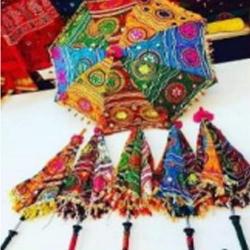 27 Diameter X 24 Inch Height  - Umbrella - Fancy Decorative Umbrella - Multi Color