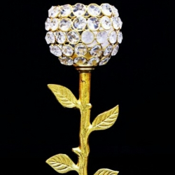11 Inch - Candle Stand - Golden Stand - Table Decornt .