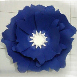 10 Inch - Daily Mall Paper Flower Decorations - Giant Flowers - Party Flower - Handcrafted Flower - Navy  Blue  Color