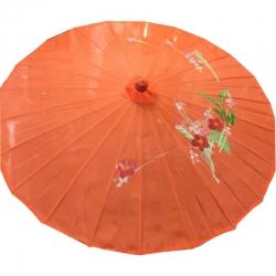 32 Inch - Orange Color - Chinese Umbrella - Fancy Umbrella - Decorative Umbrella - Chatri
