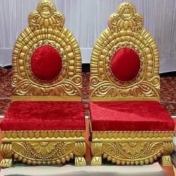 Mandap Chair - Wedding Chair - Varmala Chair - Made of Mango Wood - 1 Pair ( 2 Chair )