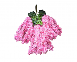 47 Inch X 35 Inch Fabric Artificial Flower - Latkan - Flower Decoration - Pink Color