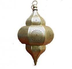 18 Inch  - Golden Color -Decorative Lanterns - Hanging Lanterns - Kandil - Made Of Iron.