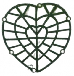 10 Inch - Flower Frame - Flower  Roof  Holder Frame - Made of Plastic Material - Heart  Shape