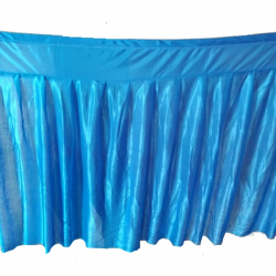 Table Cover Frill - Made Of Brite Lycra - 24 Gauge  (Available Size - 10 FT 15 FT 20 FT 30 FT )