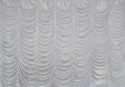 12 Ft X 15 Ft - Designer Curtain - Parda - Stage Parda - Wedding Curtain - Mandap Parda - Background Curtain - Side Curtain - Made Of Bright Lycra - White Color
