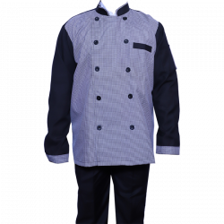 Kitchen Uniform - Chef Coat - Chef Vest - Unisex Chef Uniform - Kitchen Apparel - Double Breasted - Mandarin Style Collar - Full Sleeves - Made Of Premium Quality Cotton - Piping Trim & Buttons (Available Size 38 , 40 , 42 , 44 , 46 , 48)