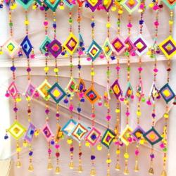 4 FT  - Kite Hanging - Wall Hanging - Small Hanging Ladi - Multi Color