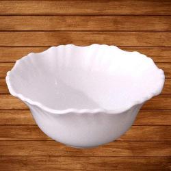 Decornt Cereal - Soup - Dessert - Lehar Curry Bowls - Made of Food-Grade Virgin Plastic - White Color