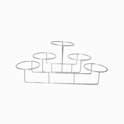 11 Inch - Salad Stand -Three Tier - Five Rings Shaped Racks - Made of Stainless Steel ( Available In Size 19 Inch )
