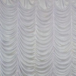 10 Ft X 15 Ft - Designer Curtain - Parda - Stage Parda - Wedding Curtain - Mandap Parda - Background Curtain - Side Curtain - Made Of Bright Lycra - White Color
