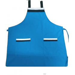 Heavy FabricKitchen Apron With Front Pocket Blue Color