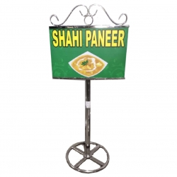 2 FT - Menu Stand - Menu Card Holder - Made of Stainless Steel  ( Available In Size 4.5 FT )