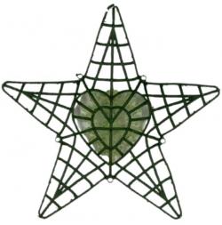18 Inch - Flower Frame - Flower  Roof  Holder Frame - Made of Plastic Material - Star Shape & Heart Shape