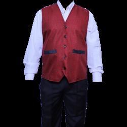 Waiter - Bearer - Bartender Coat Or Vest - Kitchen Uniform Or Apparel For Men - Full-Neckline - Sleeve-less - Made Of Premium Quality Polyester & Cotton (Available Size 38 , 40 , 42 , 44 , 46 , 48)