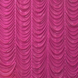12 Ft X 15 Ft - Designer Curtain - Parda - Stage Parda - Wedding Curtain - Mandap Parda - Background Curtain - Side Curtain - Made of Bright Lycra - Pink Color