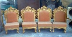 Mandap Chair - Wedding Chair - Varmala Chair - Made Of High Quality Metal & Wooden - 1 Pair ( 2 Chair )