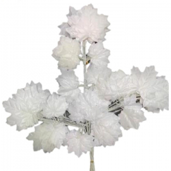 12 Inch - Fabric Artificial Leaf - Hanging Leaf - Door Hanging 1 Packet (12 Piece)