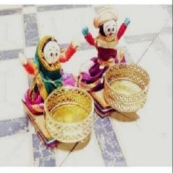 4 Inch x 5 Inch - Sitting Doll T-Light - Rajasthani Doll - Multi Color