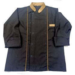 Chef Coat - Full Sleeves - Made Of Premium Quality Cotton - Piping Trim & Buttons.(Available Size 30, 40 , 42)