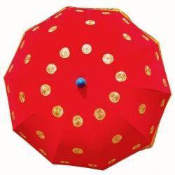 4.5 FT - Finish Fancy Umbrella - Wedding Umbrella - Red Color