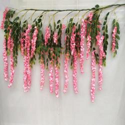3.5 FT X 6.5 FT - Artificial Hanging - Flower Decoration - Pink Color