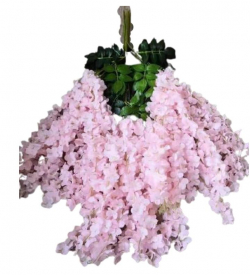 47 Inch X 35 Inch - Fabric Artificial Flower - Latkan - Flower Decoration - Light Pink Color