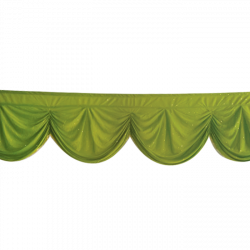 Designer Zalar - Scallop Zalar - Kantha - Jhalar - Made of Lycra with Tipki - Parrot Green Color - (Available size in 10 FT,15 FT,18 FT,30 FT )